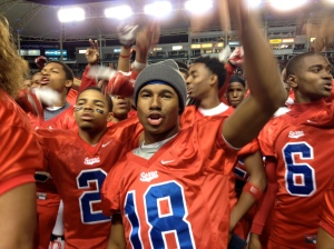 Marques Rodgers scored three touchdowns for No. 39 Serra (Gardena, Calif.) when it defeated Oakdale (Calif.) to win CIF Division II state championship. Photo by Mark Tennis.